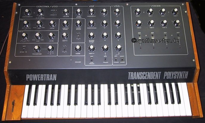 synthesizer + powertran transcendent polysynth